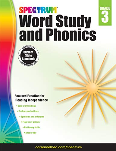 Spectrum Paperback Word Study and Phonics Book, Grade 3, Ages 8-9 ()