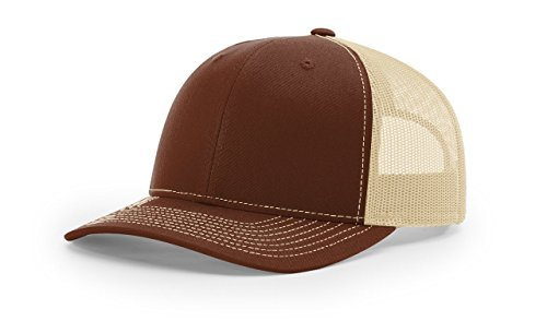 - Richardson Brown/Khaki 112 Mesh Back Trucker Cap Snapback Hat
