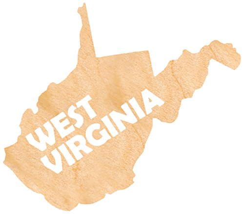 aMonogram Art Unlimited S98930-WV-12 State Of West Virginia Wooden Shape With State Name and 1/8 Burch plywood Wall Decor, 12''