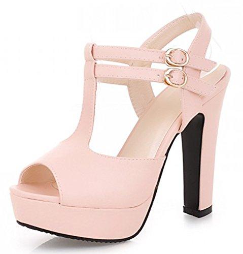 Aisun Plateforme Rose Sandales Peep Femme Elégant Toe nvxwqA0z