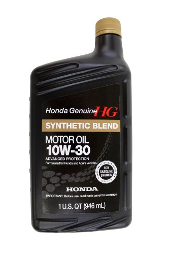 Genuine Honda Fluid 08798-9035 10W-30 Blended Synthetic Motor Oil - 1 Quart Bottle