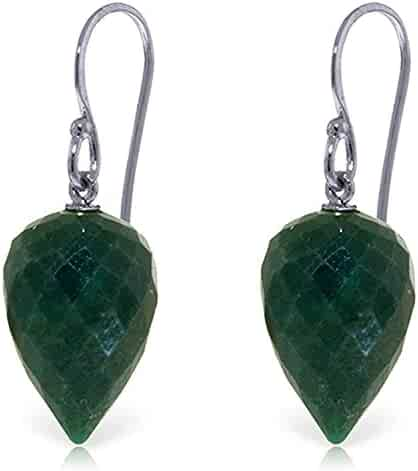 ALARRI 0.95 CTW 14K Solid White Gold Fortress Of Love Emerald Earrings