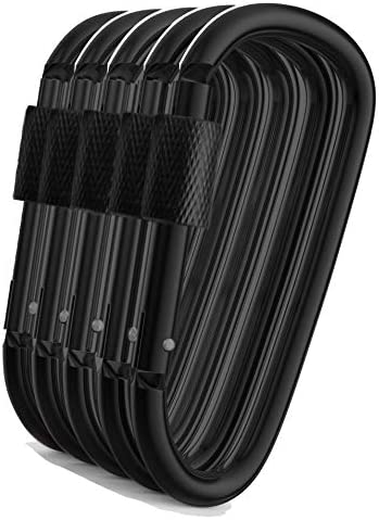 10Pcs D Shape Mini Climbing Carabiner Buckle Snap Spring Clip Hook Keychain