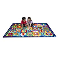 "Melissa & Doug Jumbo ABC-123 Rug (Multicolor, Oversized Activity Rug, 36 Game Cards, 58"" x 79"", Great Gift for Girls and Boys - Best for 3, 4, and 5 Year Olds)"