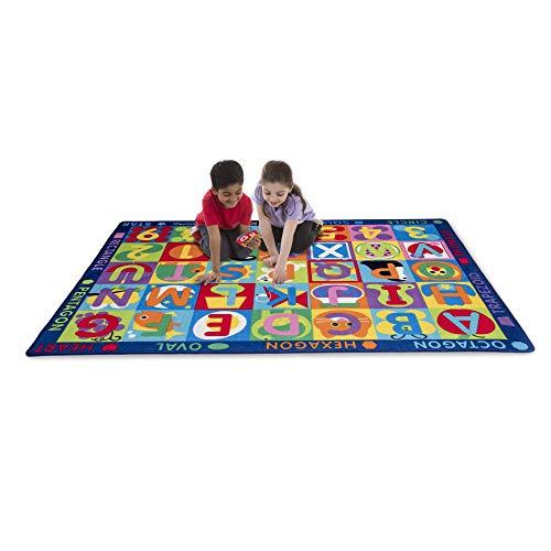 Melissa & Doug Jumbo ABC-123 Rug (Multicolor, Oversized Activity Rug, 36 Game Cards, 58