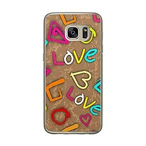 Loud Universe Samsung Galaxy S7 Love Valentine Files Valentine 152 Printed Transparent Edge Case - Multi Color