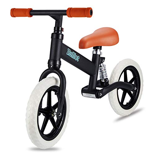 PELLIOT Balance Bike-12 Wheels Light Weight No-Pedal Toddlers Walking Bicycle for Children Age 1.5-5 (Black)