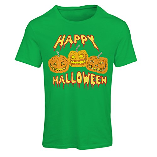 T Shirts for Women Happy Halloween! Party Outfits & Costume - Gift Idea (Large Green Multi Color) -