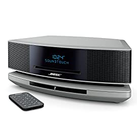 Bose Wave SoundTouch Music System IV, works with Alexa, Platinum Silver - 738031-1310 8 <p>Works with Alexa for voice control (Alexa device sold separately), Power Cord - 8 feet Enjoy all your music easily: online music services, Internet radio, your stored music library, CDs and AM/FM radio Exclusive Bose waveguide speaker technology delivers lifelike, room-filling sound Wireless connection via your home Wi-Fi network; also works with Bluetooth. Supported audio formats: MP3, WMA, AAC, FLAC, Apple Lossless One-touch access to music services (Amazon Music, Spotify, Pandora), Internet radio and music library playlists with six personalized presets on the remote or SoundTouch app Ask away. With the new Bose Skill for Alexa you can now enjoy hands-free voice control of your SoundTouch speakers using any Alexa-enabled device - like the Echo Dot Waveguide speaker technology delivers deep, high-performance sound</p>