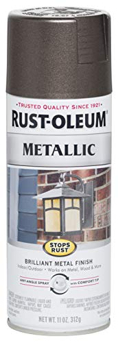 - Rust-Oleum 7272830 Stops Rust Metallic Spray Paint, 11 oz, Dark Bronze