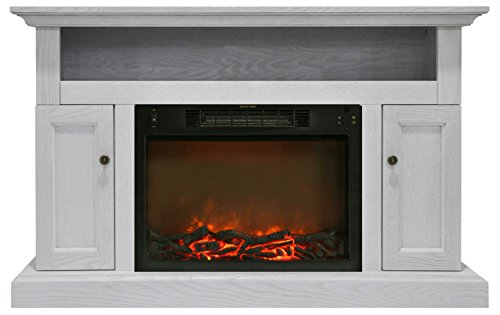 Cheap Hanover Kingsford Electric Fireplace 1500W Log Insert/47 White Black Friday & Cyber Monday 2019