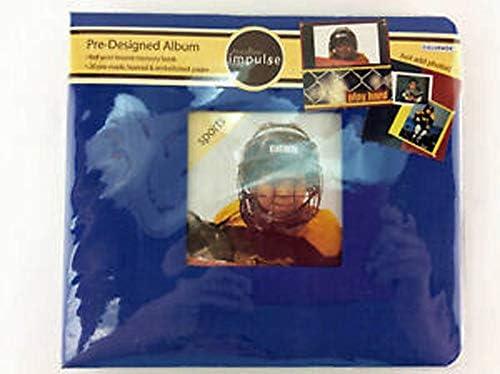 Colorbok スポーツブルー 8x8 あらかじめデザインされたスクラップブックページ 写真を追加