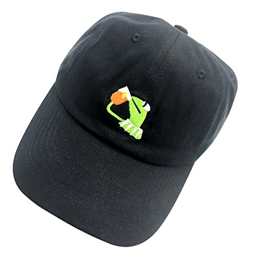 acf630e9642f2 Kermit The Frog Dad Hat Baseball Cap Sipping Sips Drinking Tea Champion  Adjustable Black - Buy Online in Oman.