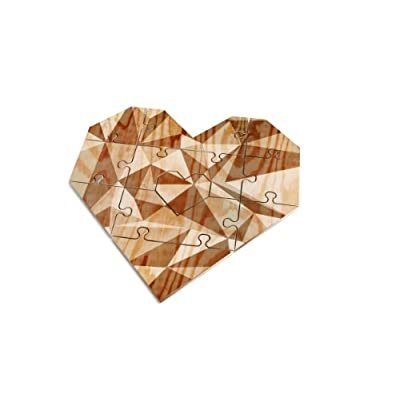 Valentine's Day Greeting Card Jigsaw Puzzle Heart shaped, Grey