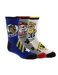 Boy's PAW Patrol Licensed 3-Pack Crew Socks