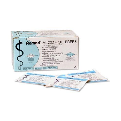 22 opinioni per Tamponi alcool 2-strati 65 x 30mm Tampone Alcol 100-pezzi
