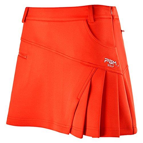 [WOLLO]レディースゴルフスカート GOLFウェア インナーパンツ付き 伸縮性 軽量 通気性