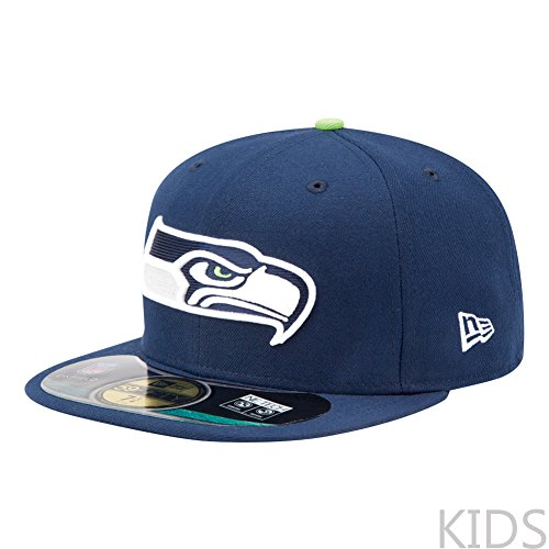 NFL Seattle Seahawks On Field 5950 Game Cap, Slate, 6 5/8, Youth