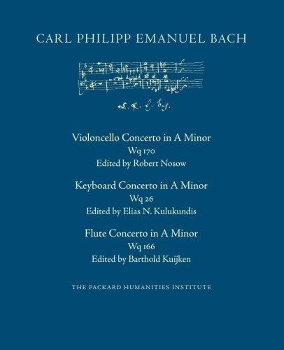 Read Online Concerto in A Minor, Wq 170, 26, 166 PDF
