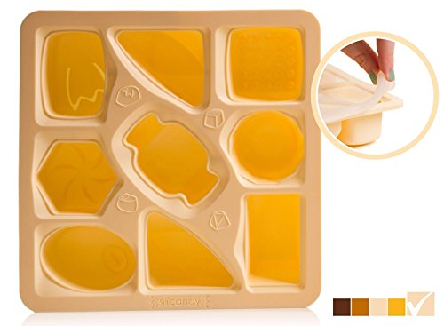 CLEARANCE Baby Food Storage Containers - BPA-Free Silicone Freezer Trays by Silicandy (Fruit Jelly Flexible Mold)