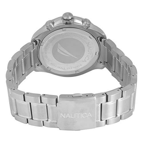 Nautica herr kronograf kvartsur med rostfritt stålrem NAPPTR004