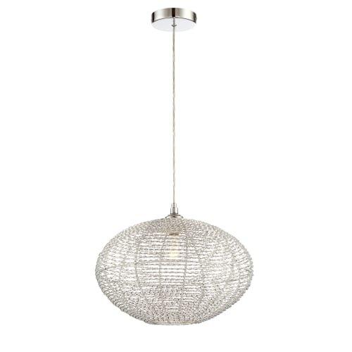 Lite Source LS-18997 Faviola Single Light 15'' Wide Pendant with Aluminum Cage Sh, Aluminum
