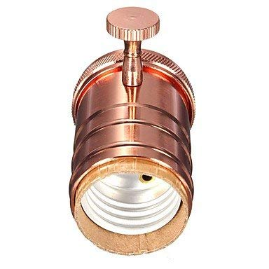 Industrial Light E26/ E27 Socket Metal Shell Vintage Pendant Lamp Metal Holder with Knob for Ceiling Light Fixture Pendant Lamp Fitting