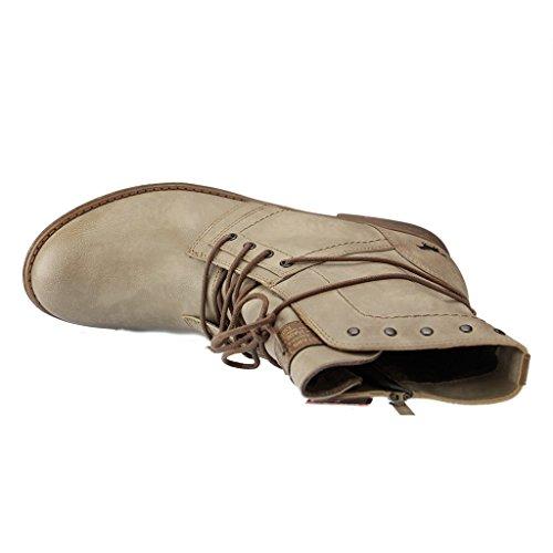 Mustang Damen Stiefeletten Boots Taupe Grau 1134-602-318