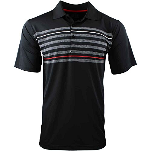 PAGE & TUTTLE Texture Chest Stripe Polo (Polos Chest Mens Stripe)