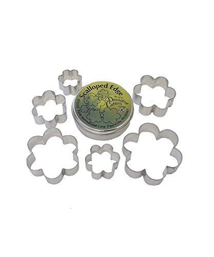 R&M International 1928 Scalloped Shape Cookie Cutters, Assorted Sizes, 6-Piece Set in Gift Tin