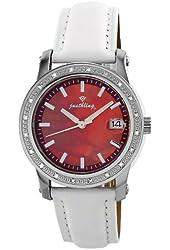 "JBW Women's JB-6224L-A ""Starlight"" White Leather Band Diamond Watch"