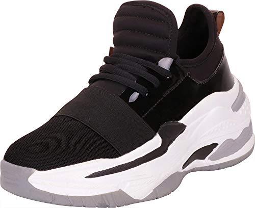 Cambridge Select Women's Retro 90s Ugly Dad Basketball Chunky Platform Fashion Sneaker,11 B(M) US,Black