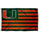 Miami Hurricanes Canes Alumni Nation Stripes Flag