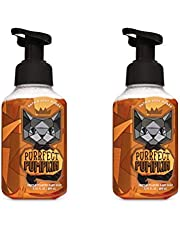 Bath and Body Works Purrfect Pumpkin Gentle Foaming Hand Soap - Pair of 2 - Sweet Cinnamon Pumpkin Scent with Halloween Black Cat Label