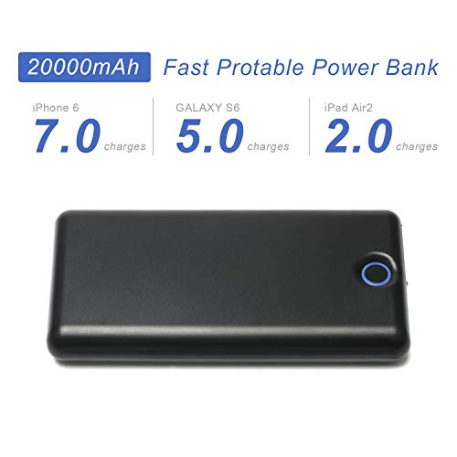 VUOHOEG 20000mAh External Quick Charge & Portable Charger,with Smart LED Digital Display Power Bank Replacement for iPhone, iPad & Samsung Galaxy & More(Black)