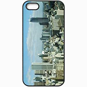 Protective Case Back Cover For iPhone 5 5S Case Concrete Glass Black