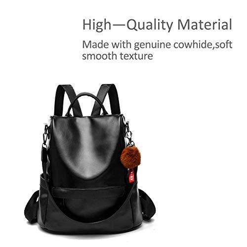 Sac dos grande cuir vol brun anti capacité femme à sac à pour imperméable noir voyage dos en vqwAvrR