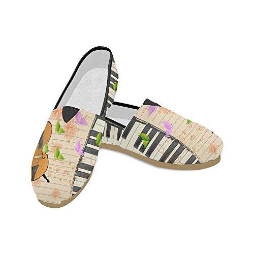 D-story Sneakers Moda Appartamenti Moto E Usa Bandiera Donna Classico Slip-on Scarpe Di Tela Mocassini Violino