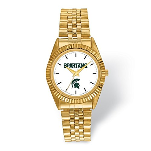 Lex & Lu LogoArt Michigan State University Pro Gold-tone Gents Watch