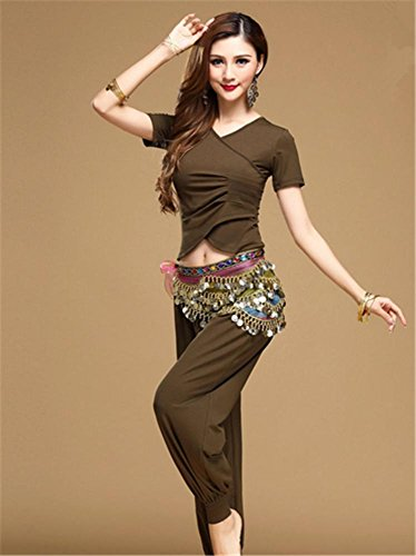 deep du green 2 yoga ventre danse usure de PCS de modal coton usure usure Femmes 6wqtOO