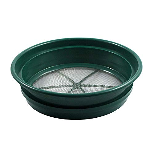 "SE GP2-1100 Patented Stackable 13-1/4"" Sifting Pan, Mesh Size 1/100"""