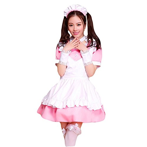 COCONEEN Anime Cosplay Costume French Maid Outfit Halloween 6 -
