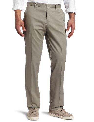 Calvin Klein Men's Slim Fit Refined Twill Pant - 34W x 32L - Elephant Skin