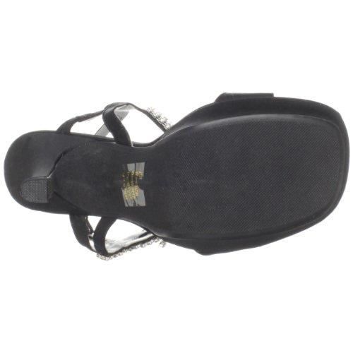 Jen Platform Sandaal Zwart Satijn Van Dyeables Dames
