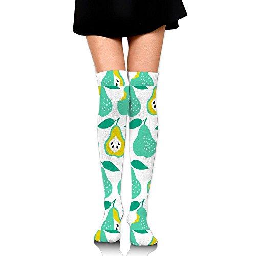 Pear(8539) Women Comfortable Over Knee High Athletic Socks
