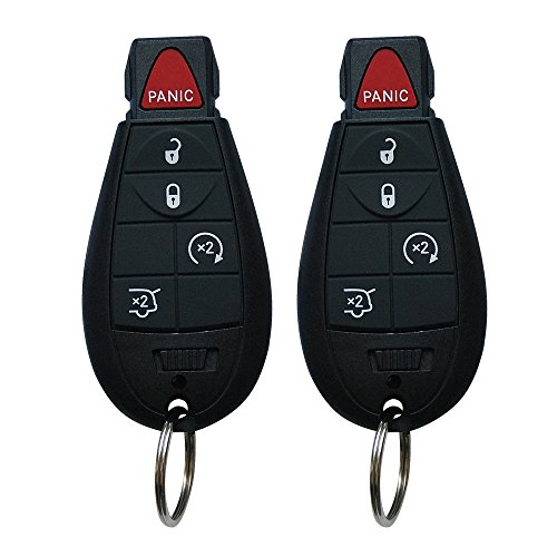 for Jeep Grand Cherokee Key Fob, BestRemotes 5 Button New Keyless Entry Remote Control Key Fob Replacement Compatible for Jeep Fobik (M3N5WY783X, ()