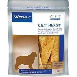 C.E.T. HEXtra Premium Oral Hygiene Chews with Chlorhexidine, Extra-Large Dogs, 30 Chews