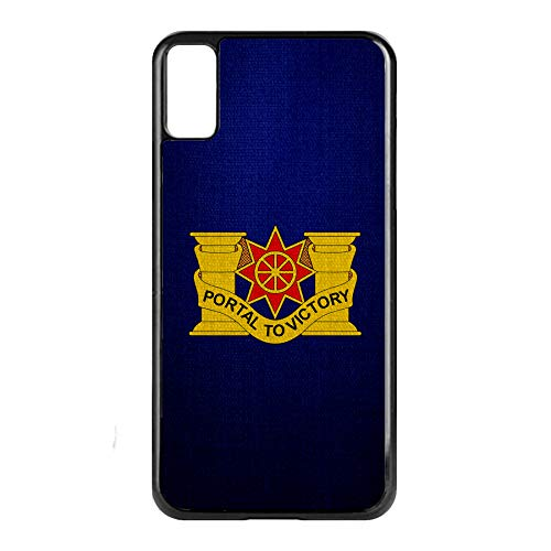 Apple iPhone Xs Case -US Army 10th Transportation Battalion, DU ()