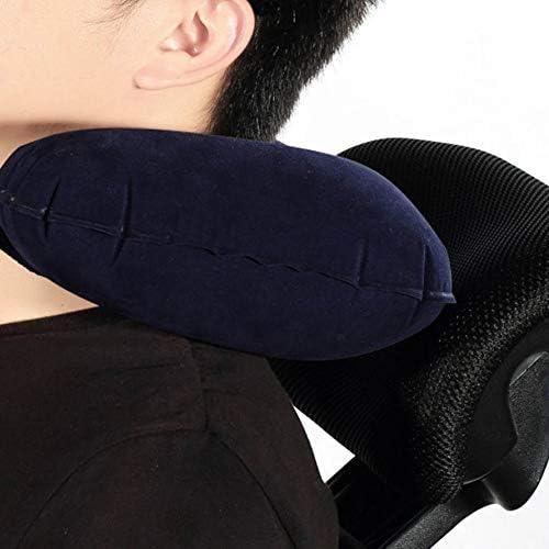 HoganeyVan U-Form-Kissen aufblasbares Reise-Kissen-Luftkissen-Nackenst/ütze-U-f/örmiges kompaktes Flugzeug-Flug-Reine Farben-Rest-Kissen-Kissen f/ür Auto