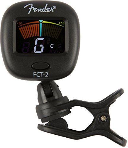 Fender FT-2 Professional Clip on Tuner for Acoustic Guitar, Electric Guitar, Bass, Mandolin, Violin, Ukulele, and Banjo